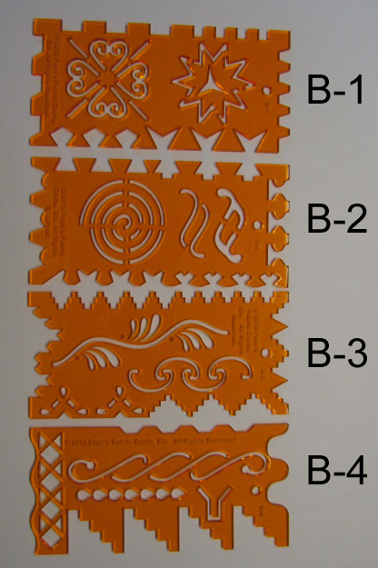 Crazy Quilt Stitch Guide Templates